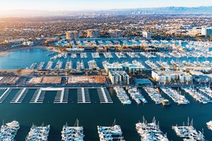 Marina del Rey and various water activities are located just 3 miles away