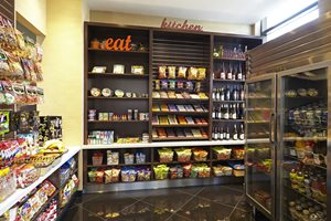 Pick up a snack, drink, or sundries in our 24-hour market
