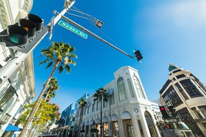 Shop at luxury boutiques in Beverly Hills and Rodeo Drive